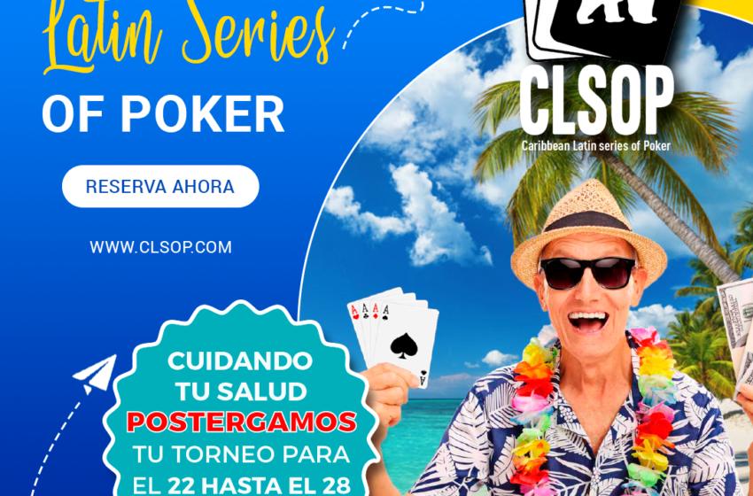 Del 22 al 28 de marzo 2021 llega a Punta Cana el torneo Caribean Latin Series Of Poker (CLSOP)