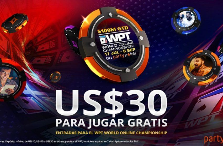 ¡Consigue US$30 para jugar gratis el WPT WOC!