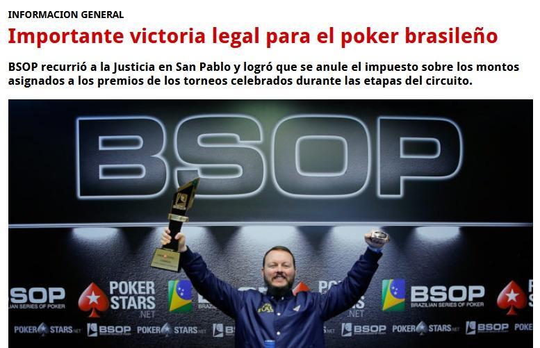El póker brasileño obtuvo gran victoria legal