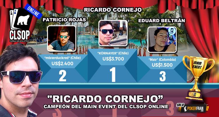 Ricardo Cornejo se quedó con el título de Campeón de primer CLSOP Online