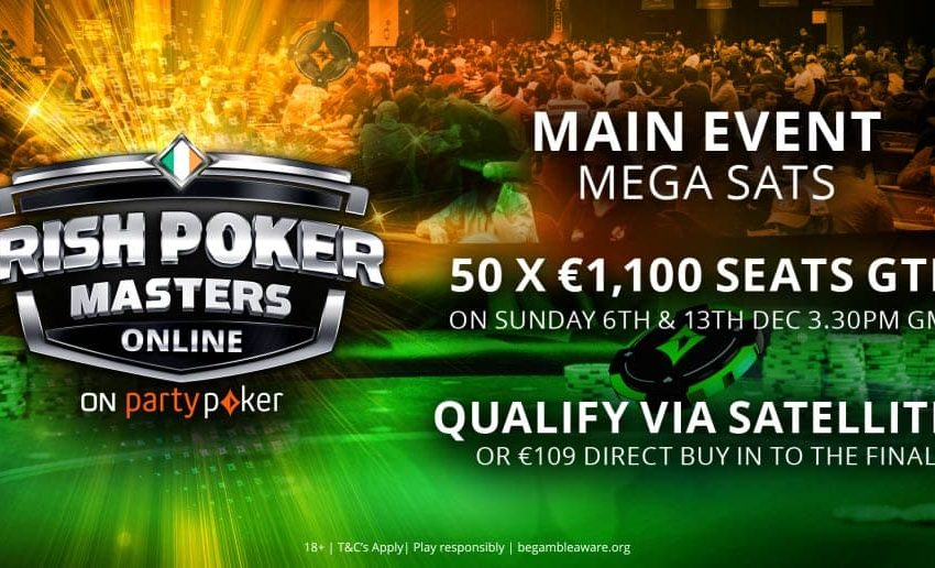 Irish Poker Masters: ¡domingo de Main Event y Mega Sat!