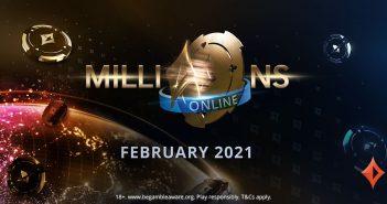 Clasifica al MILLIONS Online, el primer gran torneo del 2021