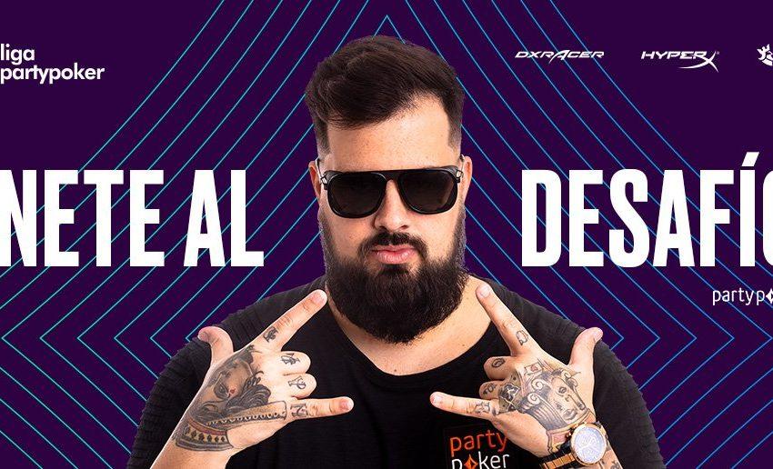 Liga partypoker: hoy es noche de show con Papo en Twitch